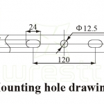 BC9700 MOUNTING HOLE DRAWING