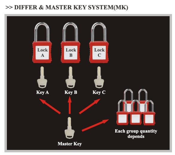 DIFFER-MASTER-KEY-SYSTEM(MK)